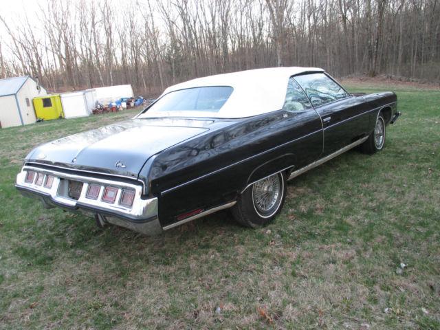 seller of classic cars 1973 chevrolet caprice black white. Black Bedroom Furniture Sets. Home Design Ideas