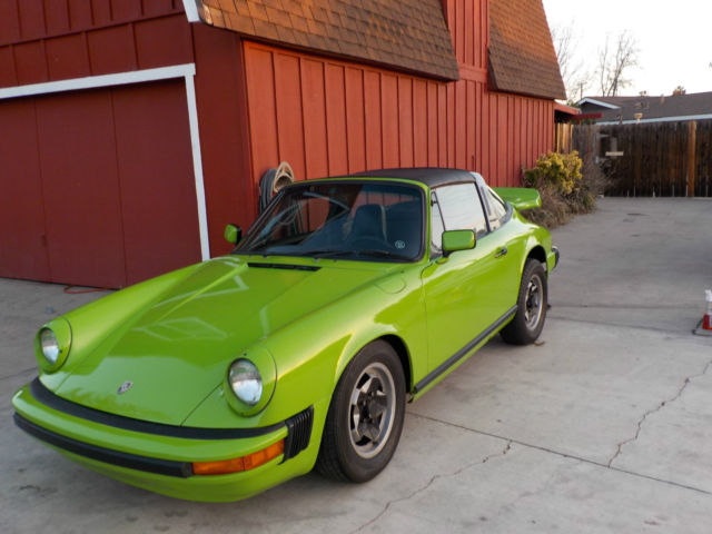 Seller Of Classic Cars 1974 Porsche 911 Apple Green Black
