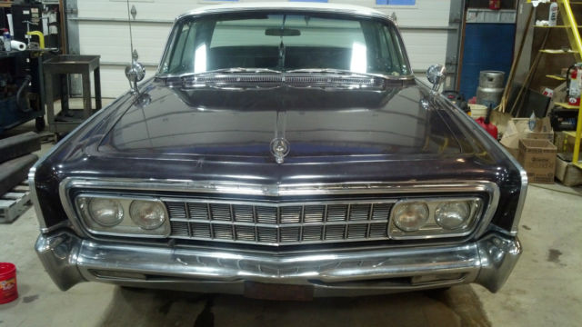 1966 Chrysler Imperial (Metallic Black/Purple (original paint)/Black)