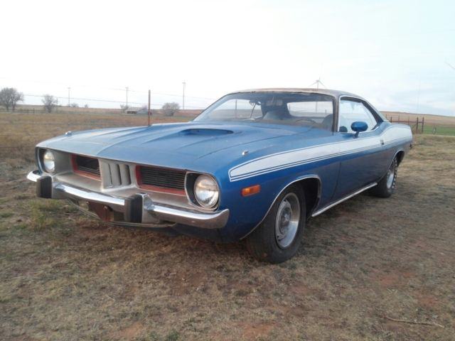 seller of classic cars 1973 plymouth barracuda blue blue. Black Bedroom Furniture Sets. Home Design Ideas