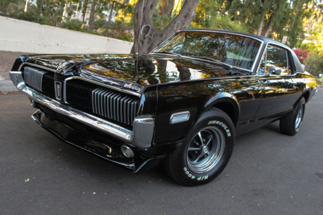 Seller of classic cars 1968 mercury cougar black black