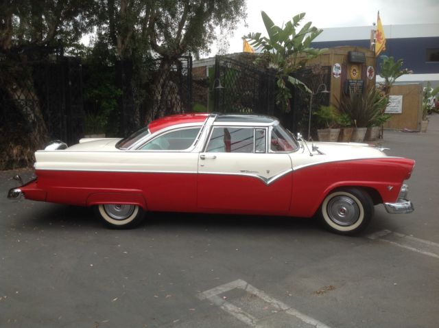 of classic cars 1955 ford crown victoria red white red white. Cars Review. Best American Auto & Cars Review