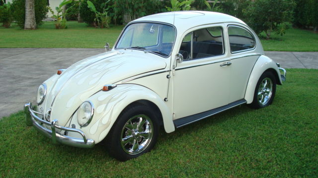 Seller of Classic Cars - 1966 Volkswagen Beetle - Classic (Lotus White/Black)