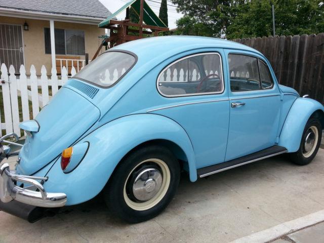 seller of classic cars 1967 volkswagen beetle classic light blue light cream. Black Bedroom Furniture Sets. Home Design Ideas