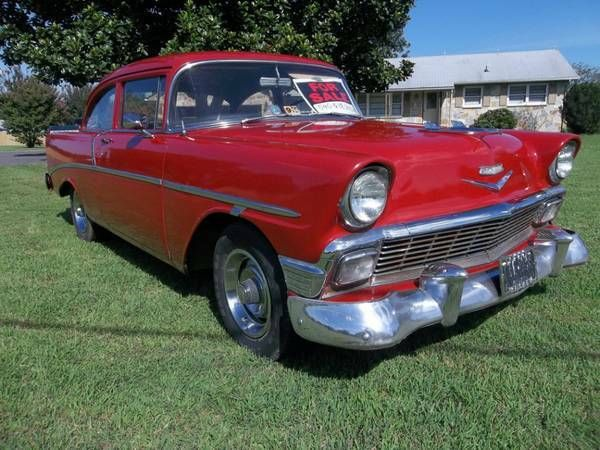 1956 Chevrolet Bel Air/150/210 (Red/black and white)