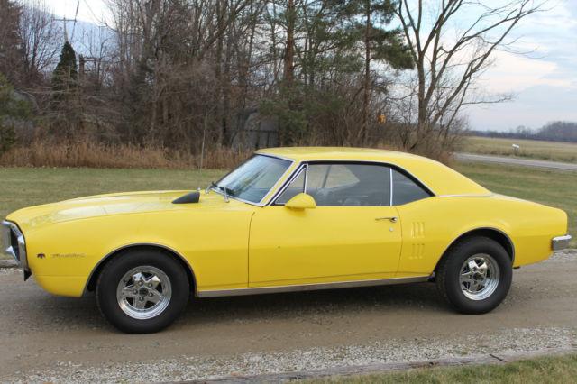 seller of classic cars 1967 pontiac firebird yellow black. Black Bedroom Furniture Sets. Home Design Ideas