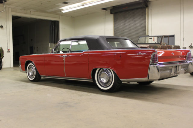 seller of classic cars 1965 lincoln continental redblack