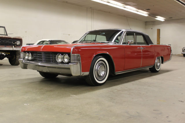 seller of classic cars 1965 lincoln continental red black. Black Bedroom Furniture Sets. Home Design Ideas