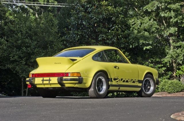 seller of classic cars 1974 porsche 911 yellow black. Black Bedroom Furniture Sets. Home Design Ideas