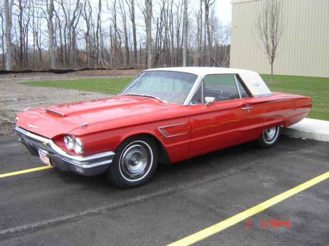 Seller of classic cars 1965 ford thunderbird red white for 1965 ford thunderbird power window motor
