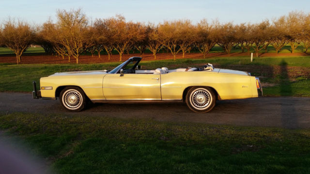 1975 Cadillac Eldorado (Yellow/white and black)