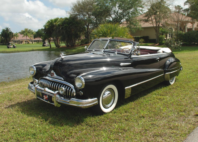seller of classic cars 1947 buick roadmaster black red. Black Bedroom Furniture Sets. Home Design Ideas