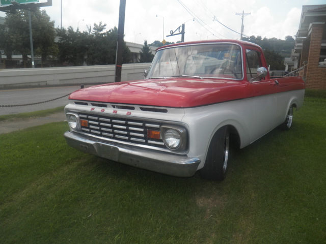 seller of classic cars 1963 ford f 100 red white red white. Black Bedroom Furniture Sets. Home Design Ideas