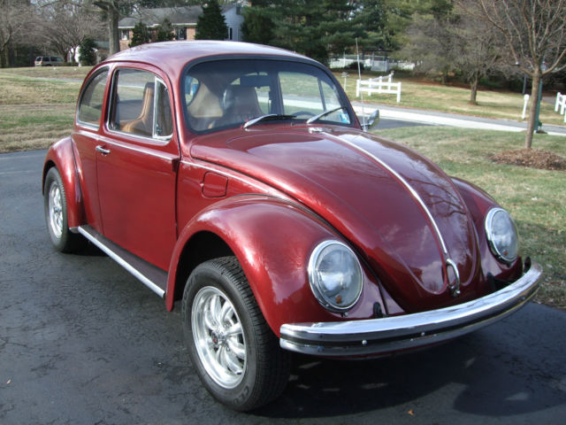 seller of classic cars 1970 volkswagen beetle classic red tan. Black Bedroom Furniture Sets. Home Design Ideas
