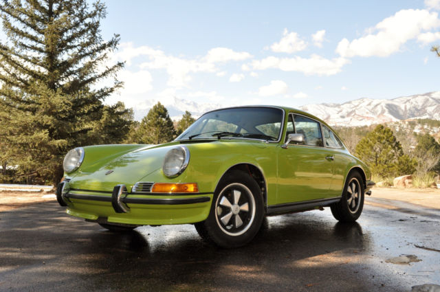 seller of classic cars 1971 porsche 911 green black. Black Bedroom Furniture Sets. Home Design Ideas