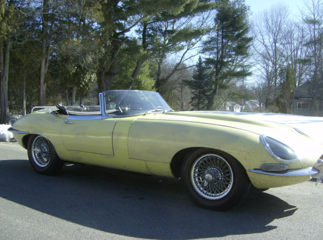 Seller Of Classic Cars 1964 Jaguar E Type Yellow Tan