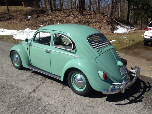 1963 Volkswagen Beetle Clic Green White