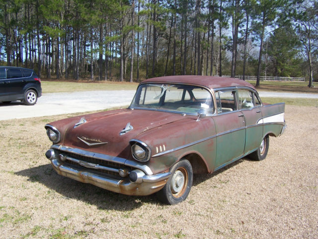 Seller of classic cars 1957 chevrolet bel air 150 210 for 1957 chevy belair 4 door sedan for sale