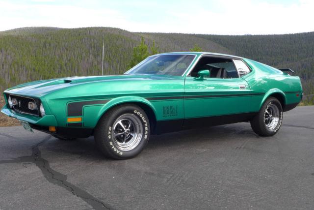 Seller Of Classic Cars 1971 Ford Mustang Grabber Green