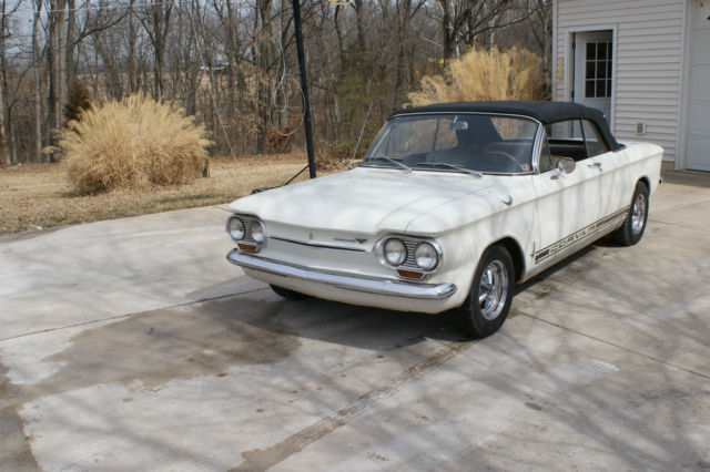 1963 Chevrolet Corvair (White/Gold)