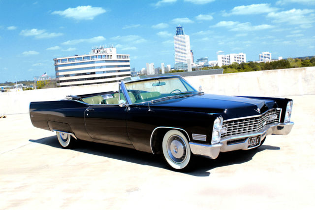 seller of classic cars 1967 cadillac deville black green. Cars Review. Best American Auto & Cars Review