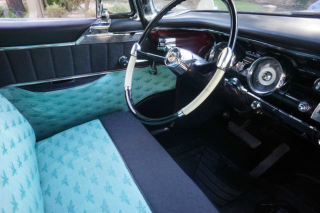 seller of classic cars 1956 chrysler new yorker black teal. Black Bedroom Furniture Sets. Home Design Ideas
