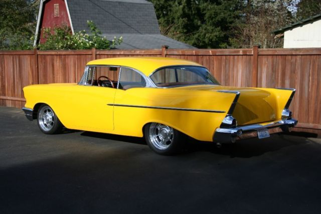 Seller of Classic Cars - 1957 Chevrolet Bel Air/150/210 (Yellow/Red Rock)