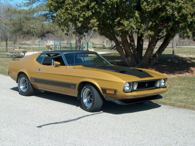 Seller of Classic Cars - 1973 Ford Mustang (GOLD GLOW/Black)