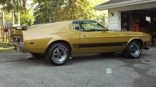 seller of classic cars 1973 ford mustang  gold glow  black mopar 3 speed manual transmission identification 3-speed manual transmission identification