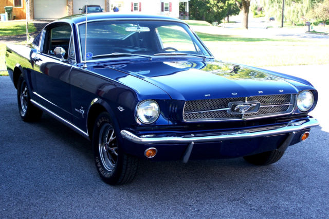 Seller Of Classic Cars 1965 Ford Mustang Dark Blue Metallic Black