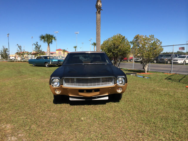 1969 AMC AMX (GOLD/FLAT BLACK/Tan)