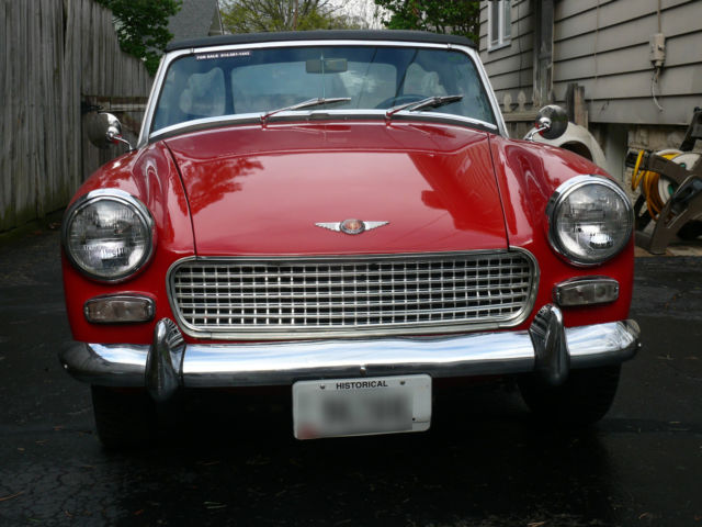 1964 Austin Healey Sprite (Red/Red Seats, Black Carpet)