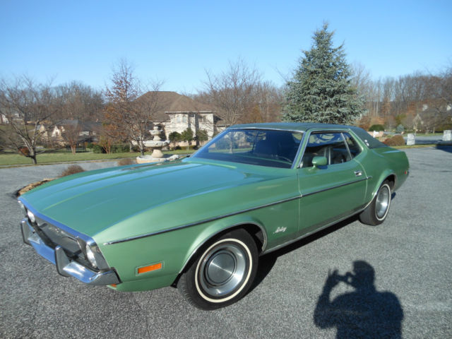 Seller Of Classic Cars 1972 Ford Mustang Green Black
