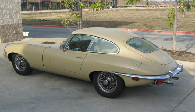 seller of classic cars 1969 jaguar e type ascot fawn beige. Black Bedroom Furniture Sets. Home Design Ideas