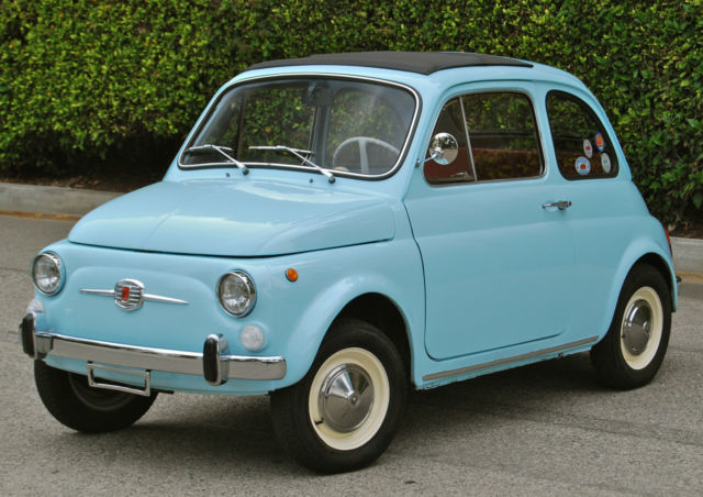 seller of classic cars 1970 fiat 500 blue red. Black Bedroom Furniture Sets. Home Design Ideas