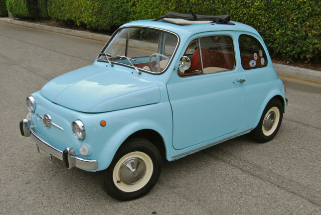 Seller Of Classic Cars 1970 Fiat 500 Blue Red