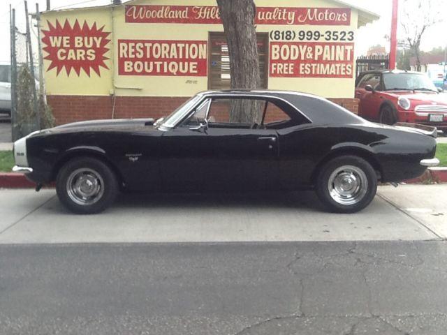 Seller of classic cars 1967 chevrolet camaro black black for Woodland motors phone number