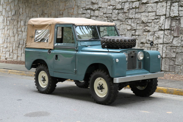 Seller Of Classic Cars 1962 Land Rover Series Ii Marine Blue Black