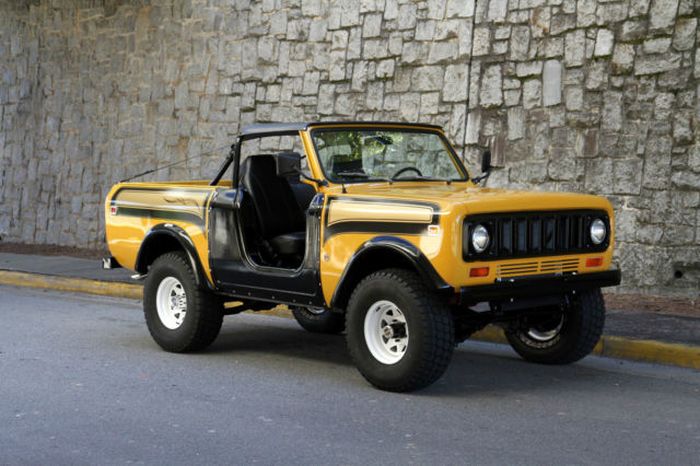Seller Of Classic Cars 1979 International Harvester Scout Rallye Gold Black