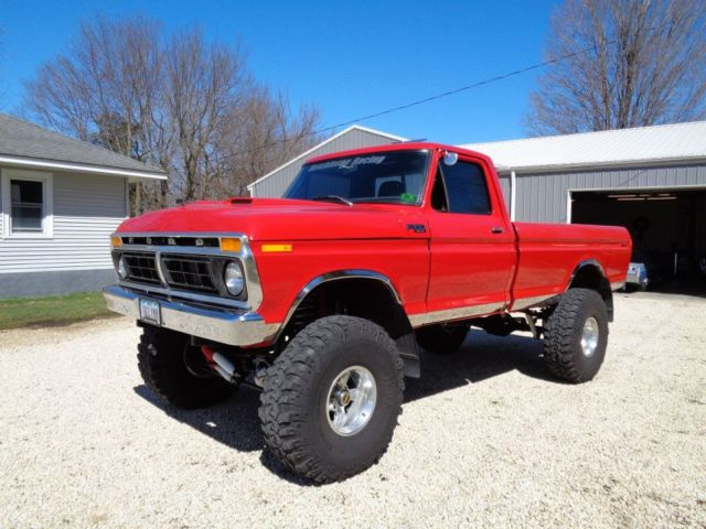 Seller Of Classic Cars 1977 Ford F 150 Red Black