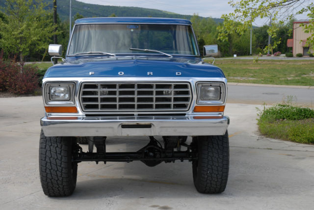 Seller Of Classic Cars 1978 Ford F 250 Blue Blue