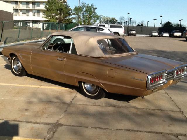 Seller of classic cars 1965 ford thunderbird gold gold for 1965 ford thunderbird power window motor