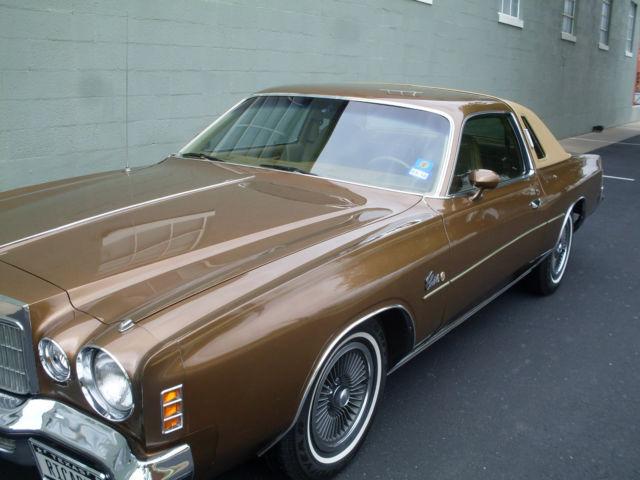 Cars For Sale $1000 >> Seller of Classic Cars - 1975 Chrysler Cordoba (Gold/Tan)