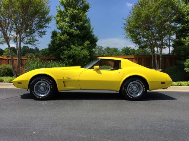 Seller Of Classic Cars 1977 Chevrolet Corvette Yellow Tan