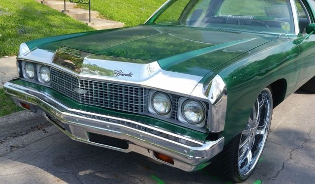 seller of classic cars 1973 chevrolet impala candy green gray green. Black Bedroom Furniture Sets. Home Design Ideas