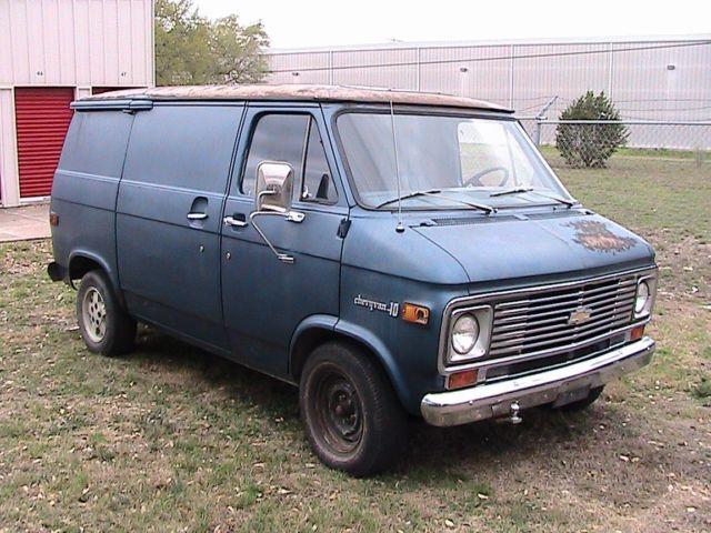 Seller of Classic Cars - 1975 Chevrolet G20 Van (Blue/Blue)