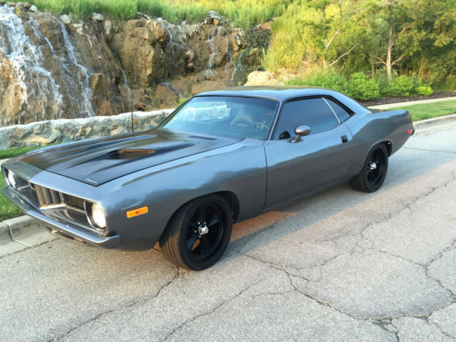Seller of Classic Cars - 1973 Plymouth Barracuda (Gunmetal Grey