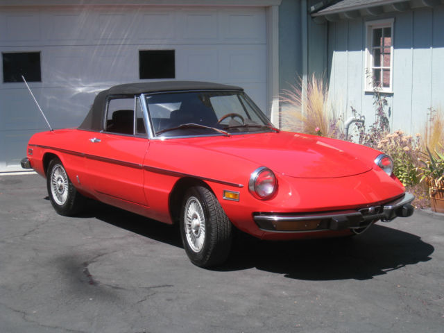 Seller Of Classic Cars Alfa Romeo Spider RedBlack - Alfa romeo spider 1974 for sale