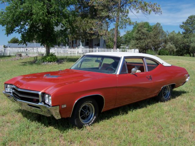 Seller Of Classic Cars 1969 Buick Skylark Fireglow White With Burnt Orange Inserts