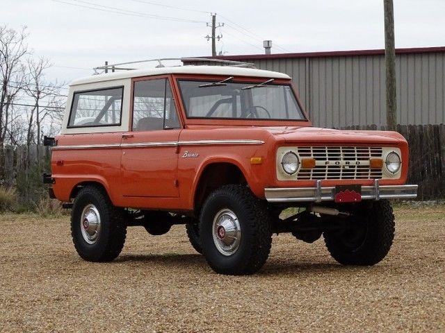 22 Inch Tires >> Seller of Classic Cars - 1973 Ford Bronco (Orange/White)